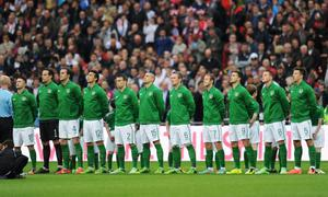 LONDON, ENGLAND - MAY 29:  Republic of Ireland players line up prior to the International Friendly match between England and the Republic of Ireland at Wembley Stadium on May 29, 2013 in London, England.  (Photo by Shaun Botterill/Getty Images)