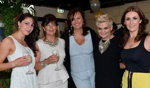 Charlotte Henz, Kerry Spence, Alyson Hogg, Rosemary Wright, Helena McGarry Helena McGarry, Clara Anderson and Louise Bunting at the Vita Liberata birthday bash in the Merchant Hotel's Tiki Bar.
