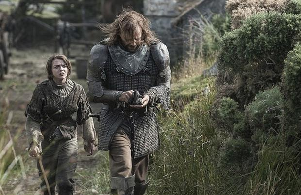 Game of Thrones Arya remains under the watch of the The Hound HBO