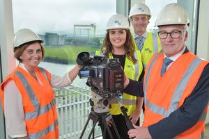 From left: Jacqui Bradley of ITV with Rhianna Jordan and Ivan Hutchinson of M&H and Alan Mackey of UTV