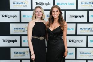 Press Eye - Belfast - Northern Ireland - 2nd May 2019 -   Rebecca Adrian and Lynsey Preston pictured at the Belfast Telegraph Business Awards in association with Ulster Bank at the Crowne Plaza Hotel, Belfast. Photo by Kelvin Boyes / Press Eye.