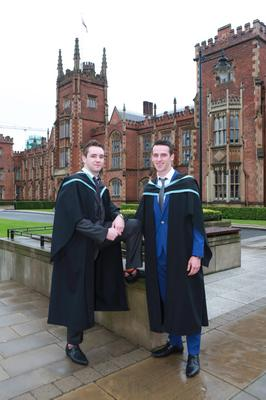 Karl O'Hagan from Moortown graduated with e BEd in business and ICT and Niall Morgan from Dungannon graduated with a BEd in Maths and Sciences from Queen's University today.