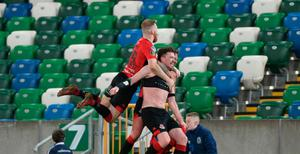 Cup king: Billy Joe Burns hopes to kill off Ballymena United the way he punished Linfield at Windsor in the last round