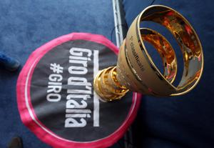 Giro d'Italia Press trophy pictured at the Giro d'Italia Press Conference at the Waterfront Hall, Belfast, May 7 2014