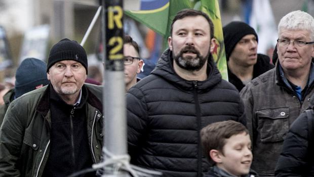 Damien McLaughlin with Saoradh as a remembrance march for the 48th anniversary of Bloody Sunday takes place in the Creggan area Derry on February 2nd 2020 (Photo by Kevin Scott for Belfast Telegraph)