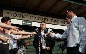Cricket NSW CEO Andrew Jones speaks to the media during a press conference at Sydney Cricket Ground on November 25, 2014 in Sydney, Australia.