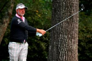 AUGUSTA, GEORGIA - APRIL 07:  Darren Clarke of Northern Ireland plays his shot from the second tee during the first round of the 2016 Masters Tournament at Augusta National Golf Club on April 7, 2016 in Augusta, Georgia.  (Photo by Kevin C. Cox/Getty Images)