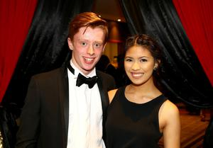 Ben Fisher and Angel Reyes pictured at the Belfast Telegraph Sports Awards sponsored by Linwoods 2015 at the Ramada Hotel, Belfast.