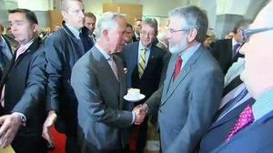 The moment Prince Charles and Gerry Adams shook hands was captured by BBC cameras