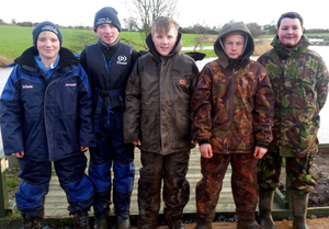 Top of the league: Darren Anderson, Reece Sloan, Simon Anderson, Jonathan Meaney and Gareth Anderson, the top five anglers in the Northern Ireland Junior/Youth Pike League after rounds three and four at Beechhill Fishery, Newtownards