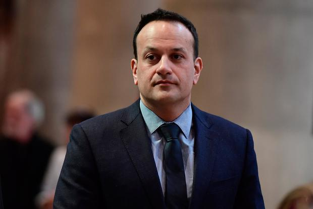 Leo Varadkar arrives for the funeral service of journalist Lyra McKee at St Annes Cathedral on April 24, 2019 in Belfast, Northern Ireland.