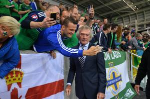Pat Jennings at the official opening of the Northern Ireland National Stadium. Photo Colm Lenaghan/Pacemaker Press