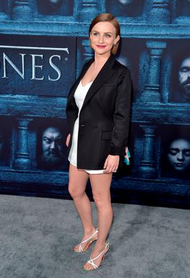 """HOLLYWOOD, CALIFORNIA - APRIL 10:  Actress Faye Marsay attends the premiere of HBO's """"Game Of Thrones"""" Season 6 at TCL Chinese Theatre on April 10, 2016 in Hollywood, California.  (Photo by Alberto E. Rodriguez/Getty Images)"""