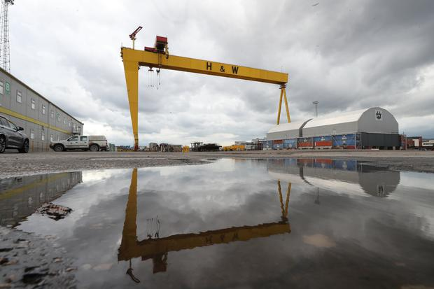 Work halted at Harland and Wolff when administrators moved in at the start of August (Liam McBurney/PA)