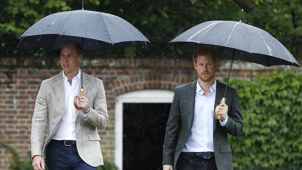 The Duke of Cambridge and Prince Harry took part in radio message (Kirsty Wigglesworth/PA)