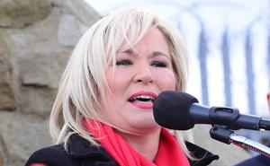 Michelle O'Neill at the Belfast event