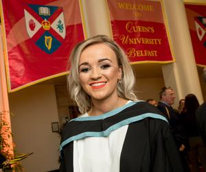 Celebrating graduation success from Queens University Belfast is Aoife Scott, who graduated with a degree in Education from St Mary's College University Belfast.