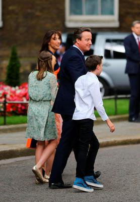 David Cameron leaves 10 Downing Street in London, with wife Samantha and children Nancy, 12, Elwyn, 10, and Florence, 5, for Buckingham Palace for an audience with Queen Elizabeth II to  formally resign as Prime Minister. PRESS ASSOCIATION Photo. Picture date: Wednesday July 13, 2016. See PA story POLITICS Conservatives. Photo credit should read: Gareth Fuller/PA Wire