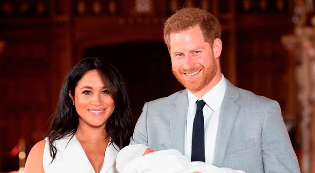 New approach: Meghan, Harry and baby Archie