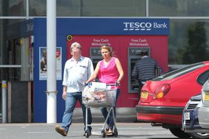Sunday Life News  Julie McGinley pictured at tesco with Louis Edmondson. Pictures taken 10 July 2015.  Picture Colm O'Reilly Sunady Life