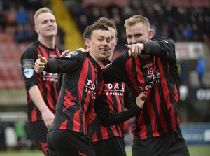 Finish the job: Paul Heatley wants Crusaders to beat Cliftonville and win back-to-back titles