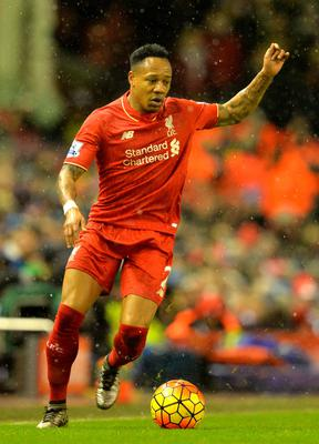 Liverpool's English defender Nathaniel Clyne kicks the ball during the English Premier League football match between Liverpool and Arsenal at Anfield stadium in Liverpool, north-west England on January 13, 2016. AFP PHOTO / PAUL ELLIS
