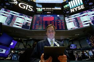 The Dow Jones Industrial Average plummeted yesterday, following similar drops in Europe