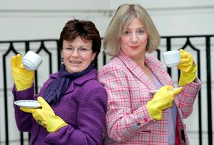 Victoria Wood (left) and Julie Walters, Photo credit: Peter Jordan/PA Wire