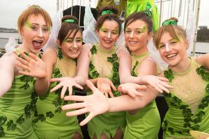 Members of teh Rainbow School of Dance pictured during Derry City and Strabane District Council's the annual Spring Carnival on St. Patrick's Day in Derry-Londonderry. Picture Martin McKeown. Inpresspics.com. 17.03.17