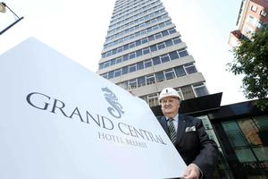 Sir William Hastings unveiled the plans for the Belfast Grand Central Hotel