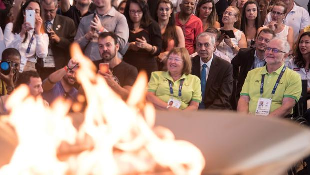 RIO DE JANEIRO, BRAZIL - SEPTEMBER 06: Sir Philip Craven, IPC President, attends to the Paralympic Flame Ceremony on September 5, 2016 in Rio de Janeiro, Brazil. (Photo by Raphael Dias/Getty Images for the International Paralympic Committee)