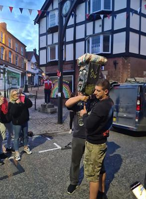 The head has been removed temporarily according to some locals (Mark Redfern/Facebook)