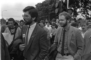 Pacemaker Belfast-Archive Gerry Adams and Martin Mcguinness Internment Rally in Falls Road 12-8-89
