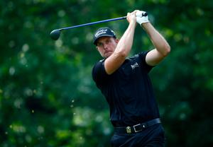 LOUISVILLE, KY - AUGUST 10:  Henrik Stenson of Sweden hits a tee shot on the sixth hole during the final round of the 96th PGA Championship at Valhalla Golf Club on August 10, 2014 in Louisville, Kentucky.  (Photo by Sam Greenwood/Getty Images)