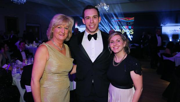 Press Eye - Belfast - Northern Ireland - 2nd February 2017 -    NI Year of Food & Drink Awards at the Culloden Hotel.  Tracey Hamilton, Tim Acheson and Clare Forster pictured at the NI Year of Food & Drink Awards at the Culloden Hotel.  Photo by Kelvin Boyes / Press Eye.