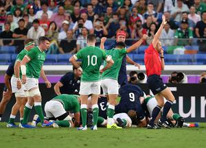 James Ryan went over for Ireland's first try (Ashley Western/PA)