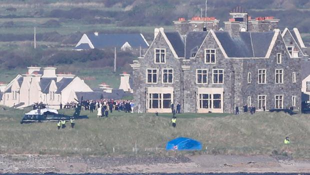 US President Donald Trump and First Lady Malania Trump arrive in Doonbeg, County Clare, on the first day of their visit to the Republic of Ireland. PRESS ASSOCIATION Photo. Picture date: Wednesday June 5, 2019. See PA story IRISH Trump. Photo credit should read: Niall Carson/PA Wire