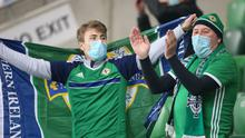 The Northern Ireland fans were back in Windsor Park - well some of them anyway.