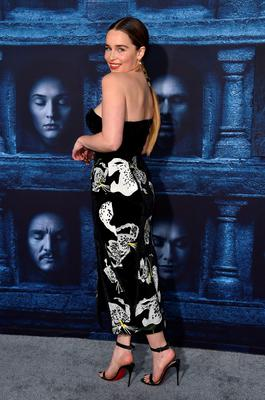 """Emilia Clarke attends the season six premiere of  """"Game Of Thrones"""" at TCL Chinese Theatre on Sunday, April 10, 2016, in Los Angeles. (Photo by Jordan Strauss/Invision/AP)"""