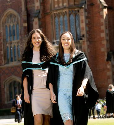 Friends Jemma Blair and Judith Henry both graduate today with a BSc Degree in Adult Nursing from The School of Nursing and Midwifery at Queen's University.