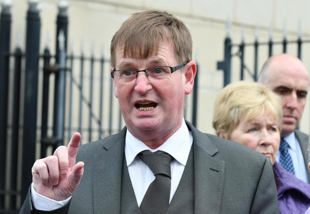 Willie Frazer attends the long-awaited inquest into the Kingsmills massacre. Pic Colm Lenaghan/Pacemaker