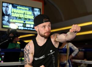 Press Eye - Belfast -  Northern Ireland - 25th January 2017 - Photo by William Cherry  Carl Frampton during his public training session at the MGM Grand Hotel and Casino, Las Vegas. Carl will fight Leo Santa Cruz in a rematch for the WBA featherweight title at the MGM Garden Arena.   Photo William Cherry/Presseye