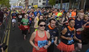 PACEMAKER BELFAST   04/05/2015 Runners during the Belfast Marathon 2015 takes place on Bank Holiday monday. Photo Colm Lenaghan/Pacemaker