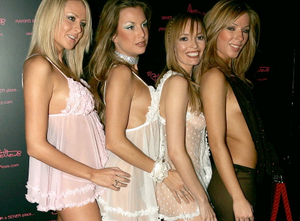 Stringfellow girls attend a party at lap dancing club Stringfellows to celebrate the launch of its website