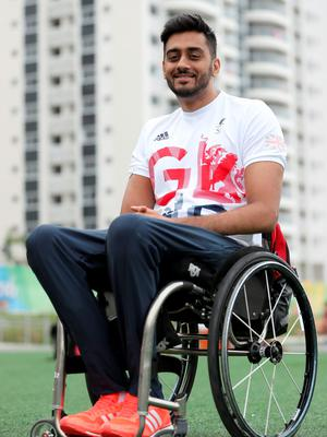 Paralympics GB wheelchair rugby player Mandip Sehmi poses for a photograph inside the Athletes Village ahead of the 2016 Rio Paralympic Games, Brazil. PRESS ASSOCIATION Photo. Picture date: Sunday September 4, 2016. Photo credit should read: Andrew Matthews/PA Wire. EDITORIAL USE ONLY