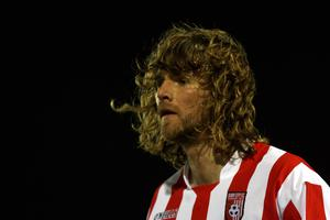 Paddy McCourt's hair reached its peak during his spell at Derry City.