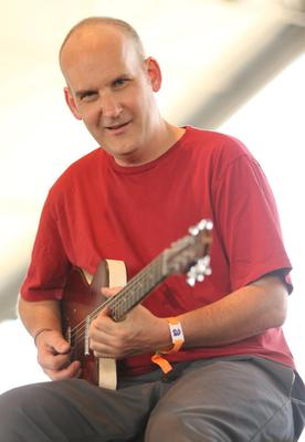 INDIO, CA - APRIL 13:  Musician Ian MacKaye from the band The Evens performs onstage during day 2 of the 2013 Coachella Valley Music & Arts Festival at the Empire Polo Club on April 13, 2013 in Indio, California.  (Photo by Karl Walter/Getty Images for Coachella)