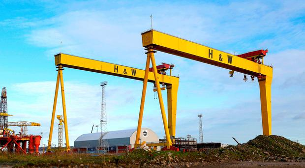 The famous Samson and Goliath cranes at Harland & Wolff in Belfast