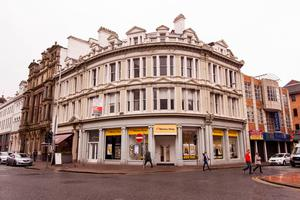 This building on Royal Avenue, Belfast is home to Belfast Coffee Company and The Money Shop among others