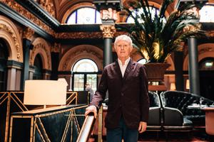 LUXURY STAY: Beannchor Group managing director Bill Wolsey at the Merchant Hotel.